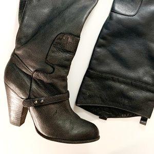 Sam Edelman dark gray leather boots size 10 M